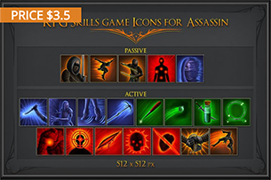 RPG Skill Icons for Rogue (Miscellaneous)